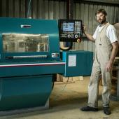 Justin at the CNC Machine